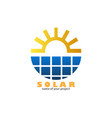 solar logo vector image vector image