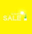 summer sale background with cactus vector image