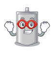 super hero bag packaging snack on a mascot vector image