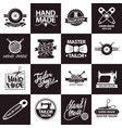tailor shop or atelier salon icons vector image