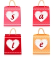 Valentines day lacy shopping bag sale set vector image vector image