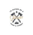 vintage hand drawn lumberjack badge and emblem vector image vector image