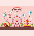 welcome to carnival fair vector image