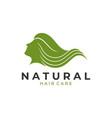 woman hair logo template vector image vector image