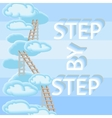 Couds ladders and words Step By Step vector image