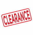 Clearance grunge rubber stamp on white vector image