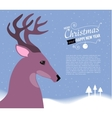 Merry Christmas and Happy New Year card with Deer vector image