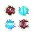 1000 followers and members thank you frames vector image vector image