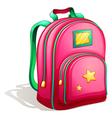 A pink schoolbag vector image vector image