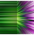 Abstract warped green and purple stripes vector image vector image
