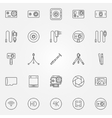 Action Camera icons set vector image vector image