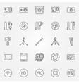 action camera icons set