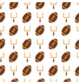 american football hand drawn seamless vector image