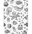 aquatic animals seamless pattern for children vector image vector image