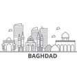 baghdad architecture line skyline vector image vector image