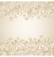 beige valentine background with many flowers vector image vector image