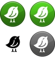 Bird button vector | Price: 1 Credit (USD $1)