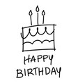 birthday cake images and happy words vector image