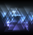 blue abstract triangle overlap background vector image vector image