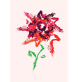 bright flower drawing vector image vector image