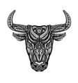 Bull taurus buffalo painted tribal ethnic vector image vector image