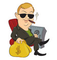 cartoon image of businessman vector image