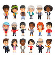 cartoon people collection vector image vector image