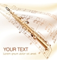 Classical soprano sax on musical notes background vector image vector image
