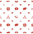 conversation icons pattern seamless white vector image vector image