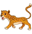 Cute cheetah cartoon vector image vector image