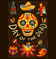 dead day mexico background poster vector image vector image
