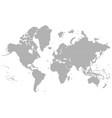 dotted detailed map of the world silhouette vector image vector image