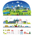 flat infographic eco plant vector image vector image