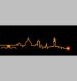 florence light streak skyline vector image