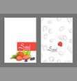fresh berry cover vector image