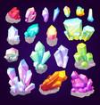 gemstone crystals and jewel gem stones vector image