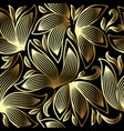 gold 3d floral seamless pattern line art tracery vector image vector image