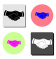 handshake business shake hand partnership flat vector image