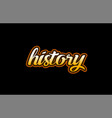 history word text banner postcard logo icon vector image