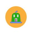 in flat design halloween icon vector image vector image