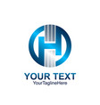 initial letter h logo template colored blue vector image vector image