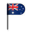 isolated flag of australia vector image
