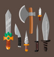 knife weapon dangerous metallic vector image vector image