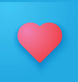 love heart icon in pink color vector image vector image