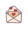 love letter with cute little hearts vector image
