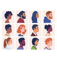 man and woman multiracial multicultural crowd vector image