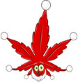 marijuana christmas mascot isolated on white vector image vector image