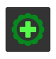 Medical Sticker Flat Button vector image vector image
