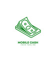 mobile cash logo vector image