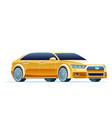 modern yellow car taxi cab vector image